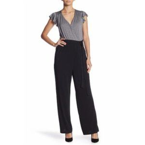 ECI Metallic Flutter Sleeve Jumpsuit With Pockets
